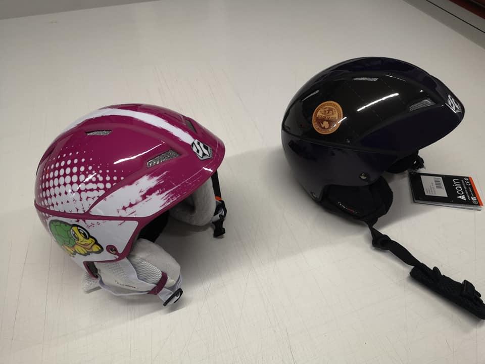 Décoration sur casque de ski