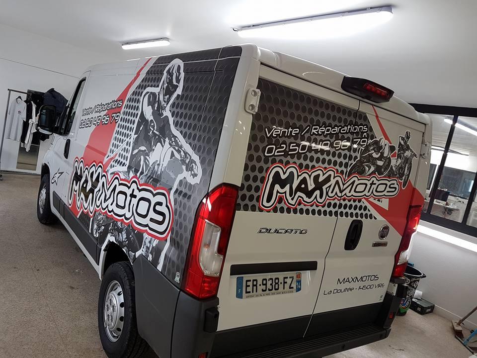Covering camionnette Ducato Max Motos